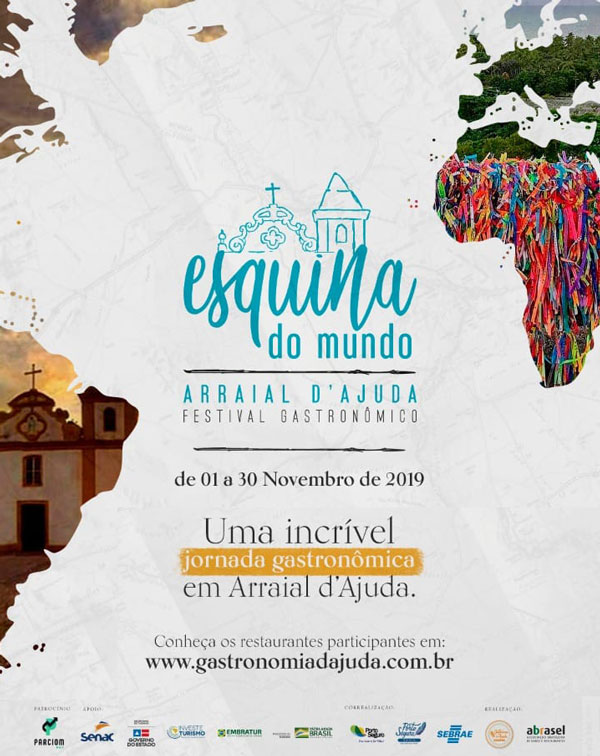 Cartaz   restaurantes de Arraial d'Ajuda, Do dia 1° ao dia 30/11/2019