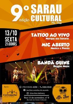 panfleto Sarau Cultural - 9ª edição