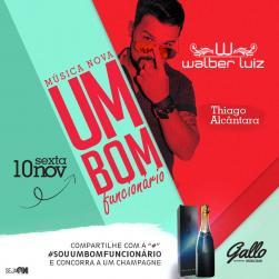 panfleto Happy Hour com Walber Luiz e Thiago Alcantara