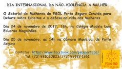 panfleto Dia Internacional de Luta em defesa da vida das Mulheres
