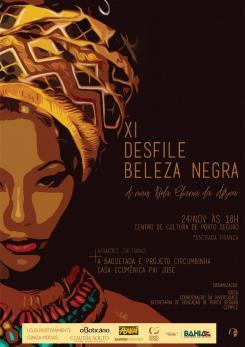 panfleto XI° Desfile Beleza Negra