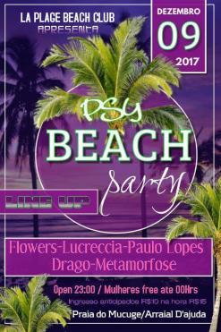 panfleto Psy Beach Party