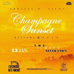 panfleto Champagne Sunset
