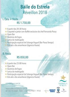 panfleto Ceia e Baile do Estrela 2018