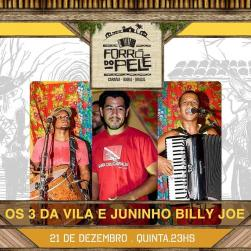 panfleto Os 3 da Vila e Juninho Billy Joe