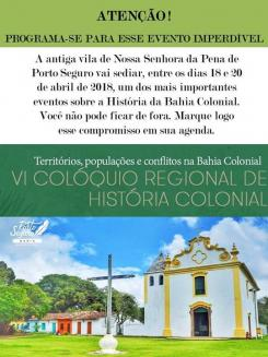 panfleto VI Colóquio Regional de História Colonial