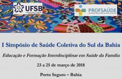 panfleto I° Simpósio de Saúde Coletiva do Sul da Bahia