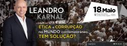 panfleto Palestro com Leandro Karnal