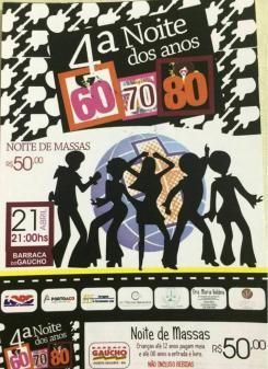 panfleto 4ª Noite dos Anos 60, 70, 80