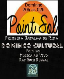 panfleto Domingo Cultural - Segunda batalha de Rima