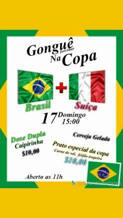 panfleto Gonguê na Copa - Brasil x Suíça
