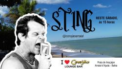panfleto Sting do Arraial e Os Raonis