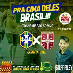 panfleto Brasil x Sérvia - Silfarley