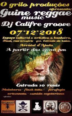 panfleto Banda Guine Reggae Music + Dj Califre Groove