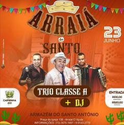 panfleto Arraiá do Santo - Trio Classe A