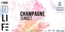 panfleto Champagne Sunset - A Toast to Life