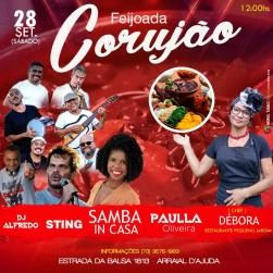 panfleto Paulla Oliveira, Samba InCasa, Sting + Feijoada