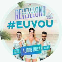 panfleto Réveillon 2020 - Alinne Rosa, Trio da Huanna e Walber Luiz