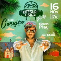 panfleto Kitesurf Festival Party - Banda Play