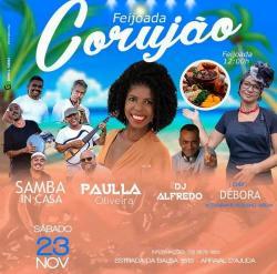 panfleto Paulla Oliveira + Samba InCasa + feijoada