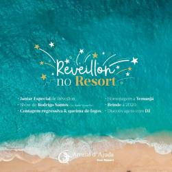panfleto Reveillon 2020 com Rodrigo Santos