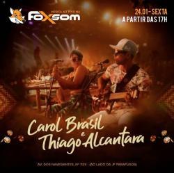 panfleto Carol Brasil & Thiago Alcântara