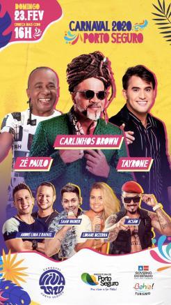 panfleto CARLINHOS BROWN + Zé Paulo + Tayrone