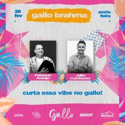 panfleto Fabiano Araújo + Júlio Cardozo