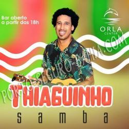panfleto Thiaguinho Samba