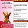 panfleto Festa de Santo André