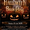 panfleto Haloween Beach Party