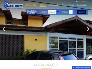 panfleto Hotel Marlim - Porto Seguro - BA