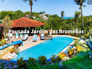 panfleto Jardim das Bromélias Hotel Pousada