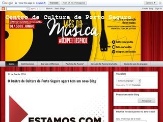 panfleto Centro de Cultura de Porto Seguro