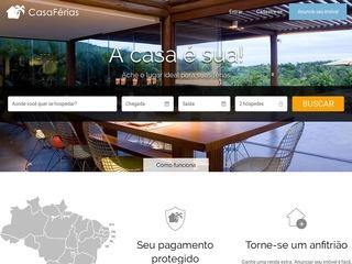 panfleto CasaFérias - Aluguel por Temporada em Porto Seguro