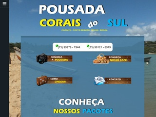 panfleto Pousada Corais do Sul