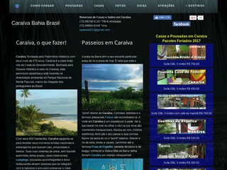 panfleto Caraíva Bahia - Guia