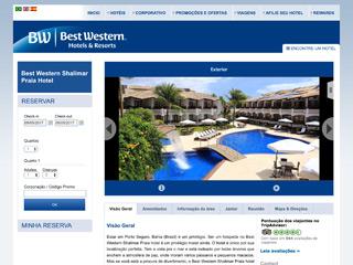 panfleto Best Western Shalimar Praia Hotel