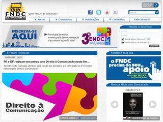 panfleto Forum Nacional Pela Democratização da Comunicação