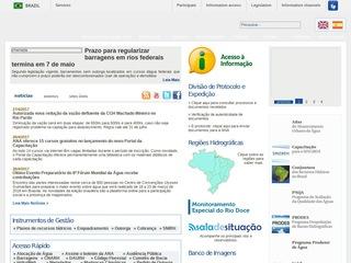 panfleto ANA - Agência Nacional das Águas